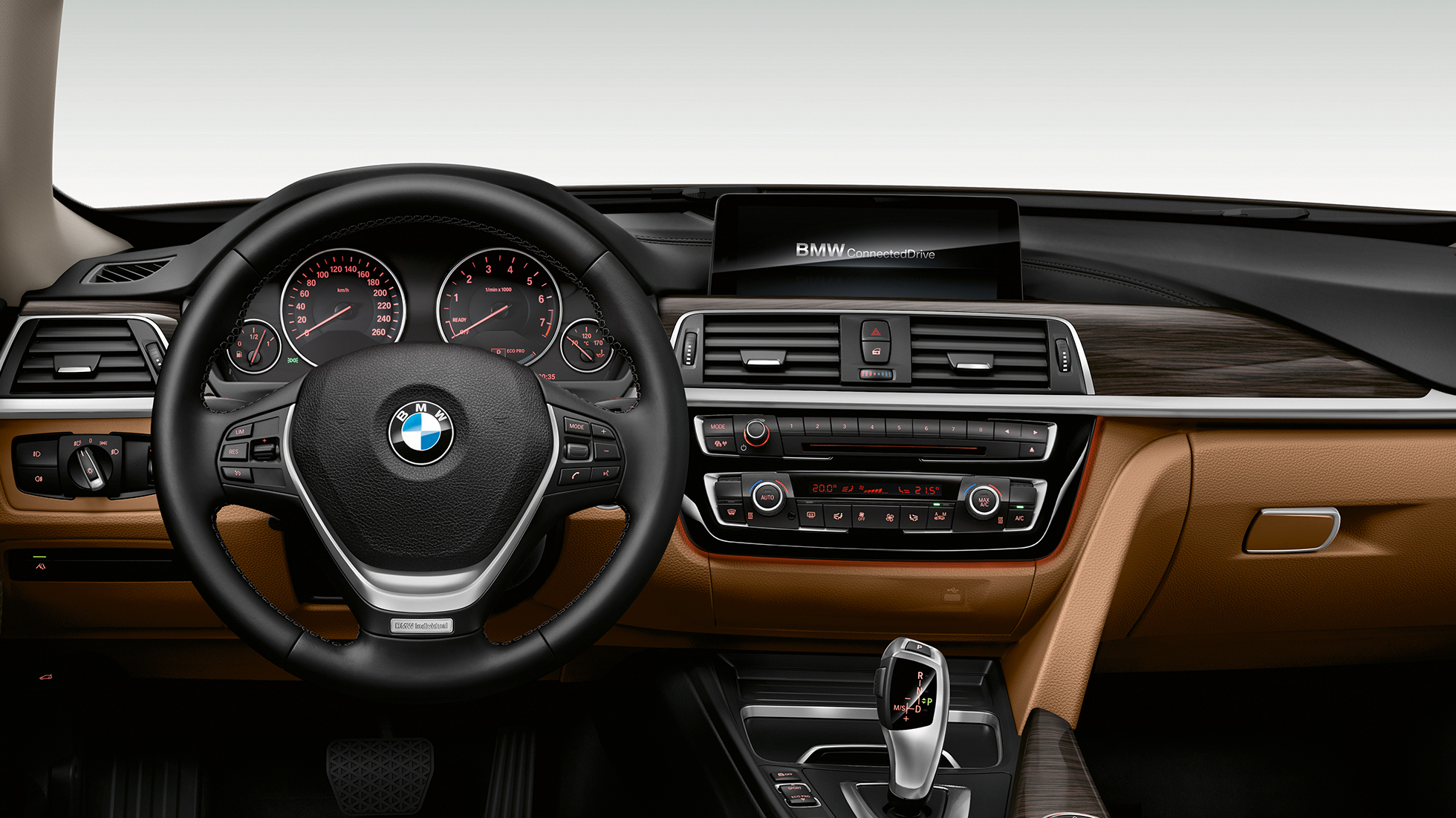BMW 3-as Gran Turismo, a Luxury Line modell műszerfala